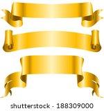 vintage golden ribbon banners... | Shutterstock . vector #188309000