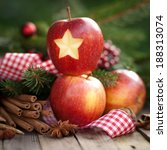 christmas apple | Shutterstock . vector #188313074