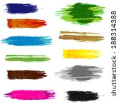 set of artistic colorful brush... | Shutterstock . vector #188314388