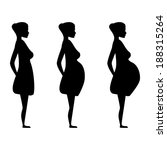 silhouette of a pregnant woman... | Shutterstock .eps vector #188315264