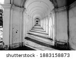Ancient Portico With White...