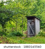 Old Wooden Toilet Camping In A...