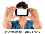 unrecognizable man taking a... | Shutterstock . vector #188317649