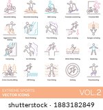 extreme sports icons including...   Shutterstock .eps vector #1883182849