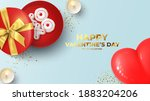 happy valentine's day holiday... | Shutterstock .eps vector #1883204206