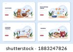 tiramisu dessert web banner or... | Shutterstock .eps vector #1883247826