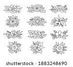 set of flower bouquets in an... | Shutterstock .eps vector #1883248690