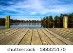 A Day At The Lake. Wooden Dock...