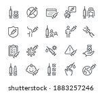 vaccine and vaccination icons... | Shutterstock .eps vector #1883257246
