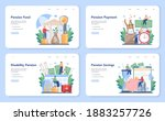 pension fund web banner or... | Shutterstock .eps vector #1883257726