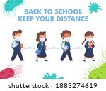 back to school for new normal...   Shutterstock .eps vector #1883274619