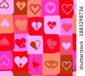 hearts multicolored  beautiful ... | Shutterstock .eps vector #1883298736