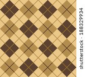 argyle pattern in browns and... | Shutterstock .eps vector #188329934