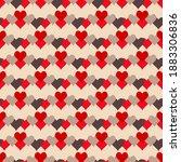 heart background design... | Shutterstock .eps vector #1883306836