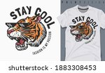graphic t shirt design  stay... | Shutterstock .eps vector #1883308453