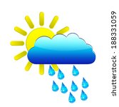 sun with raincloud and raindrops | Shutterstock .eps vector #188331059