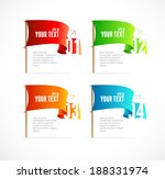 vector colorful flags like... | Shutterstock .eps vector #188331974