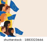 european people with european... | Shutterstock .eps vector #1883323666
