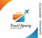 modern color travel agency logo ...   Shutterstock .eps vector #1883350723