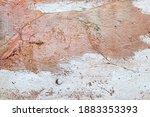 terracotta texture pattern wall ... | Shutterstock . vector #1883353393