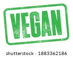 vegan stamp with detailed...   Shutterstock .eps vector #1883362186