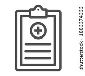 medical history line icon ...   Shutterstock .eps vector #1883374333