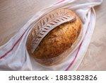 homemade sourdough bread food... | Shutterstock . vector #1883382826