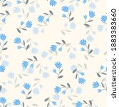 seamless floral pattern based... | Shutterstock .eps vector #1883383660