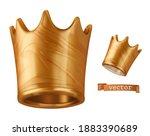crown 3d vector icon. liquid...   Shutterstock .eps vector #1883390689
