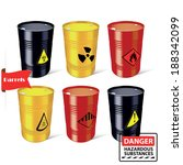 signs of hazardous substances.... | Shutterstock .eps vector #188342099
