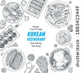 korean food top view... | Shutterstock .eps vector #1883423449