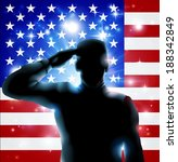 Patriotic Soldier Or Veteran...