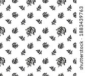 black leaf pattern with white... | Shutterstock . vector #1883439763