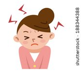 women frustrated by stress | Shutterstock .eps vector #188344388