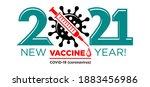 2021 new vaccine year logo.... | Shutterstock .eps vector #1883456986
