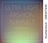 light fashion alphabet letters... | Shutterstock .eps vector #188347640