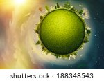 global eco and transportation... | Shutterstock . vector #188348543