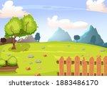 rustic vector landscape ...   Shutterstock .eps vector #1883486170