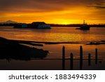 Sunrise Tugboat Fraser River. ...