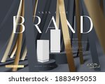 abstract luxury black and gold... | Shutterstock .eps vector #1883495053