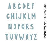 hand drawn alphabet. eps 10. no ... | Shutterstock .eps vector #188349680