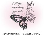 magic is something you make... | Shutterstock .eps vector #1883504449