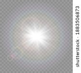 vector light with glare. sun ... | Shutterstock .eps vector #1883506873