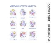 vegetarian lifestyle concept... | Shutterstock .eps vector #1883536300