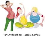 pregnant women at sport | Shutterstock .eps vector #188353988