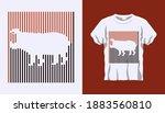 inverted silhouette of... | Shutterstock .eps vector #1883560810