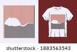 inverted silhouette of wild... | Shutterstock .eps vector #1883563543