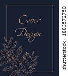 abstract cute doodle brochure... | Shutterstock .eps vector #1883572750