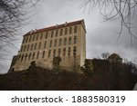 Old Ghostly Castle In Czech...