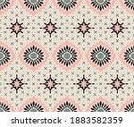 talavera pattern. azulejos... | Shutterstock .eps vector #1883582359